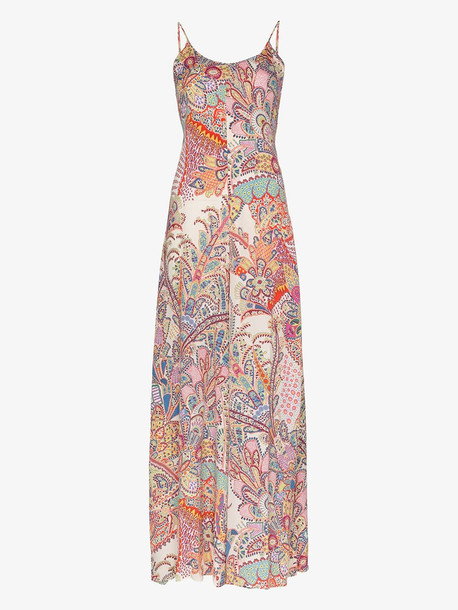 Etro paisley wide leg jumpsuit in white