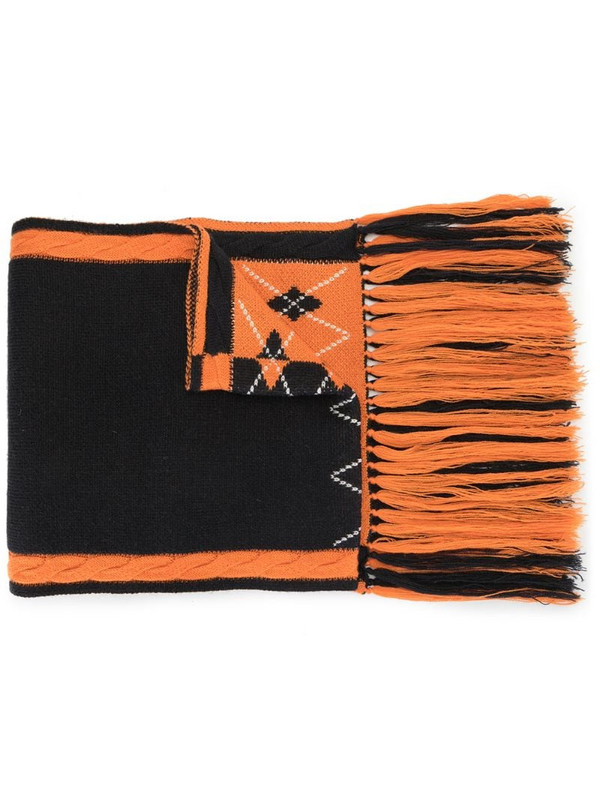 BAPY BY *A BATHING APE® embroidered logo scarf in orange