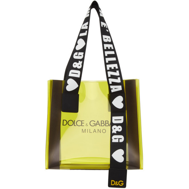 Dolce and Gabbana Dolce & Gabbana Yellow PVC Street Shopping Tote