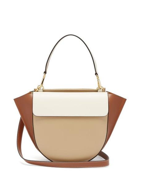 Wandler - Hortensia Medium Leather Shoulder Bag - Womens - Beige Multi