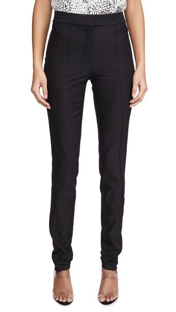 Derek Lam 10 Crosby Ora Slim Trousers with Front Slit in black