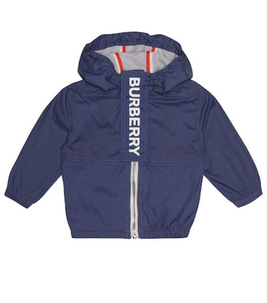 Burberry Kids Logo jacket in blue