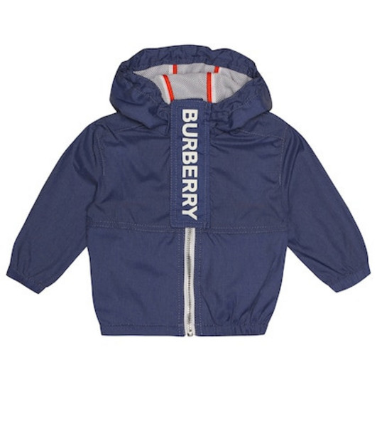 Burberry Kids Logo jacket in blue
