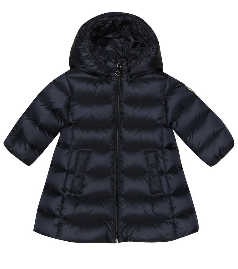 Moncler Enfant Baby Majeure quilted down coat in blue