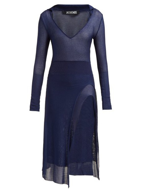 Jacquemus - Notte Knitted Dress - Womens - Navy
