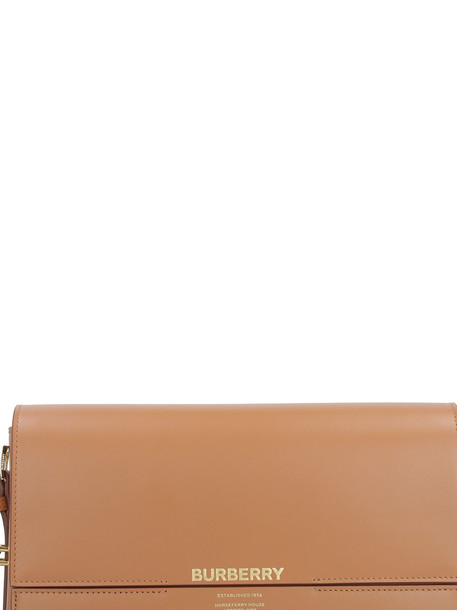 Burberry Leather Shoulder Bag in brown