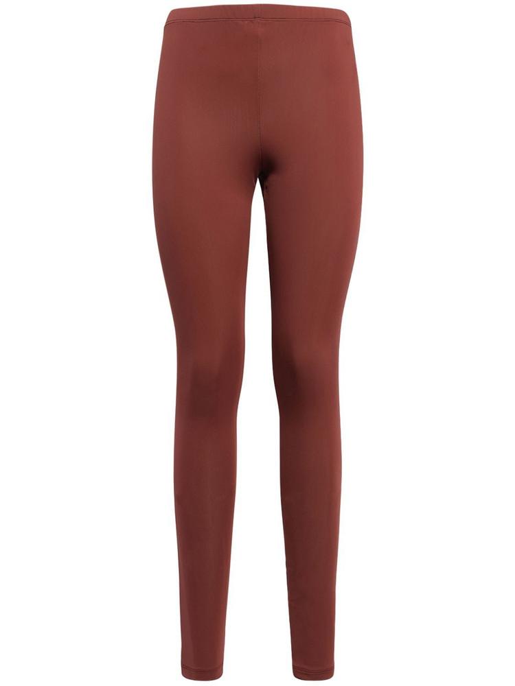 THE ATTICO Paige Lycra Leggings in brown