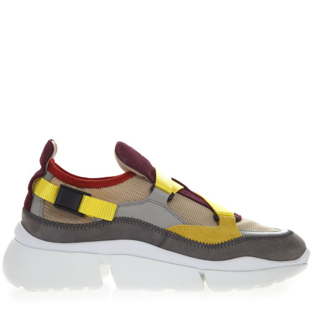 Chloé Chloé Multicolor Suede & Textile Sneaker