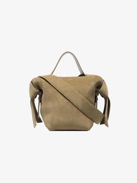 Acne Studios grey musubi mini suede leather shoulder bag