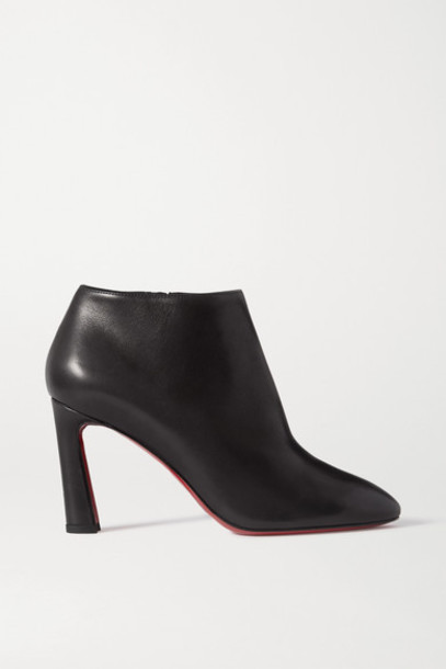 Christian Louboutin - Eleonor 85 Leather Ankle Boots - Black