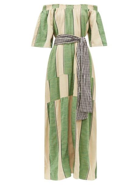 Ace & Jig - Casa Striped Cotton Chambray Maxi Dress - Womens - Green