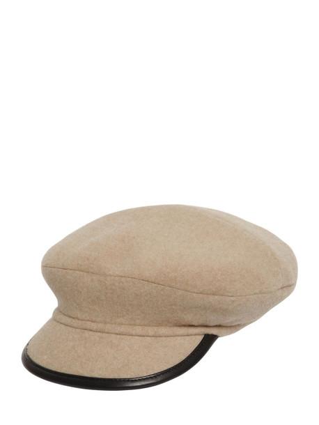 MAISON MICHEL Billy Vizor Cashmere Double-faced Hat