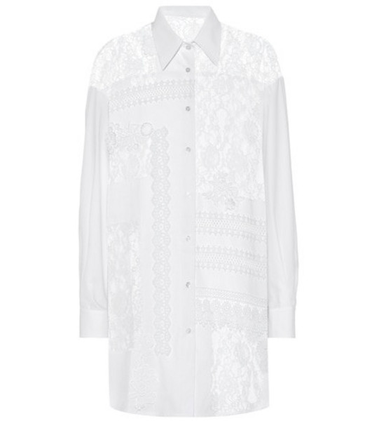 Golden Goose Deluxe Brand Flora lace and cotton shirt in white