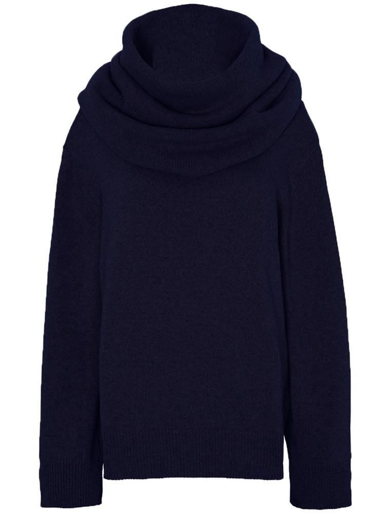 THE FRANKIE SHOP Noemie Oversized Wool Blend Knit Sweater in blue