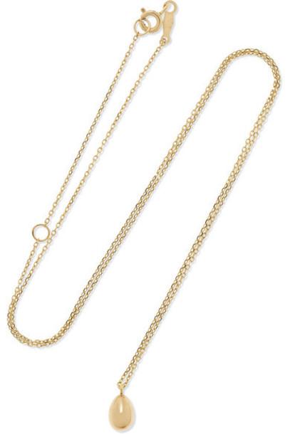 Catbird - Swan Egg 14-karat Gold Necklace