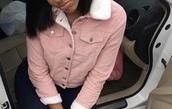 jacket,denim jacket with fleece collar