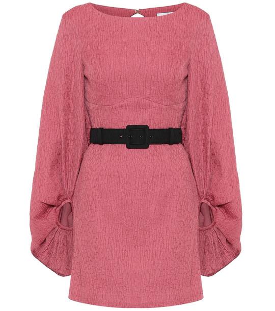 Rebecca Vallance Greta crinkle minidress in pink