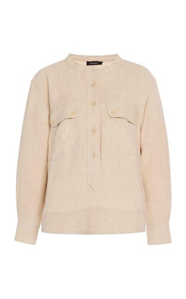 Isabel Marant Tecoyo Silk Top Size: 36 in neutral
