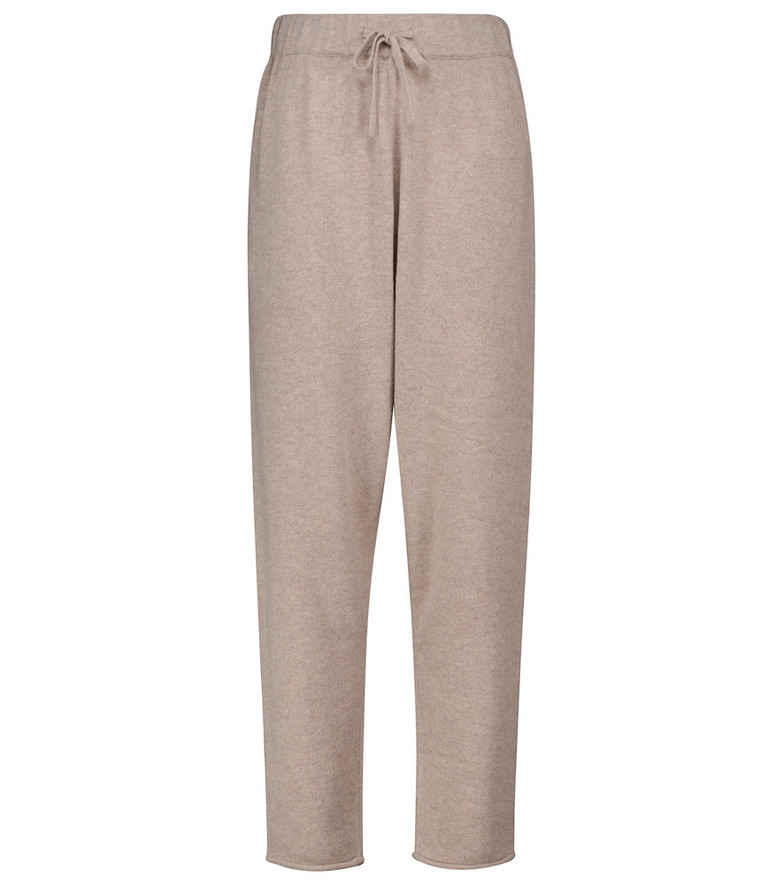 Co Cashmere-blend sweatpants in beige