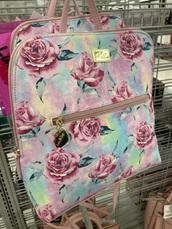 bag,pink,flowers,backpack,big bag
