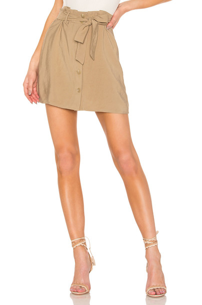 L'Academie Charming Skirt in taupe