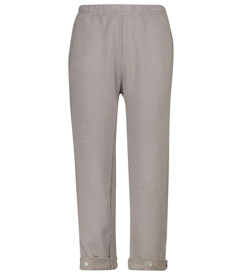 LES TIEN Cotton sweatpants in grey