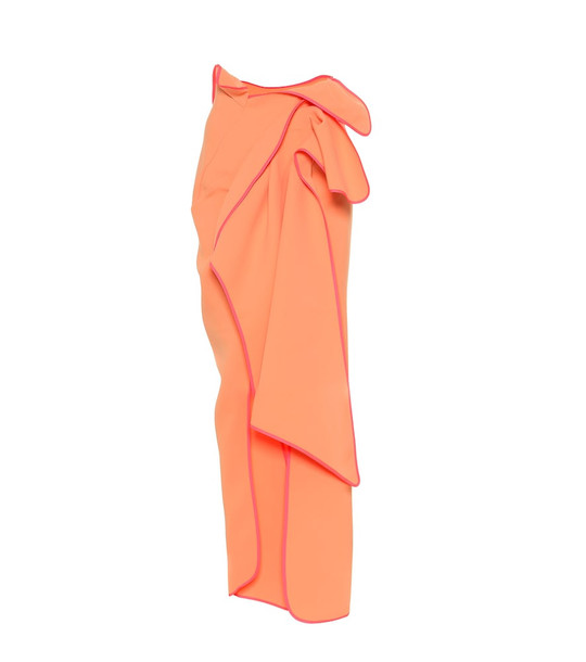 Maticevski Ephemeral maxi skirt in orange