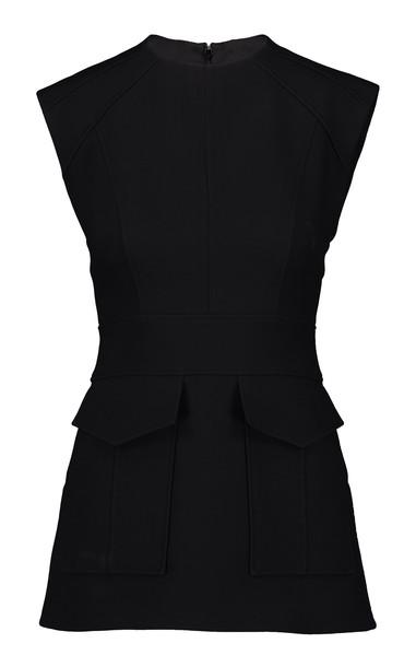 Burberry Vaux Wool-Silk Top Size: 4 in black
