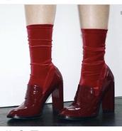 shoes,burgundy