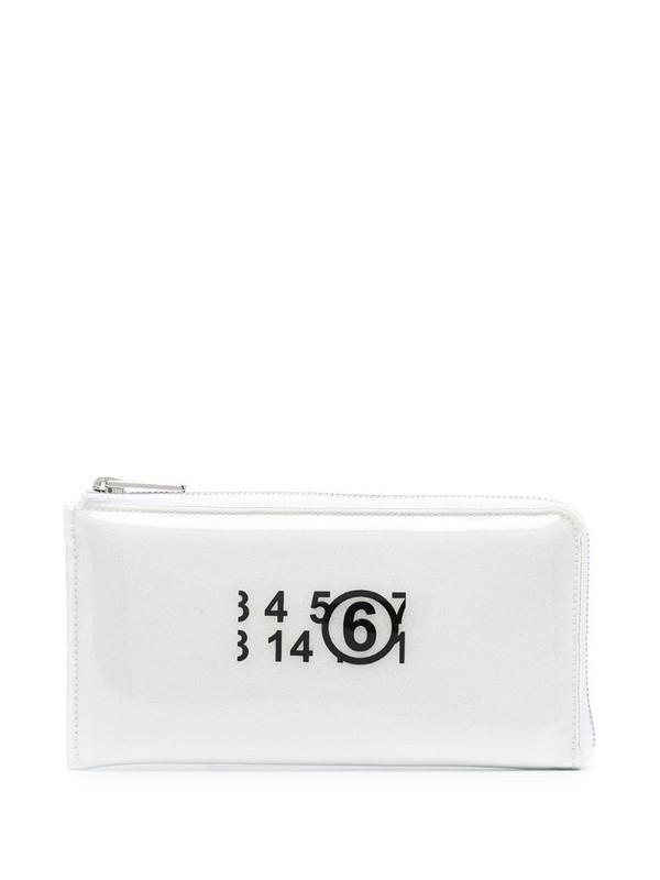 MM6 Maison Margiela long logo print purse
