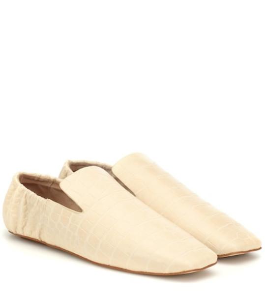 Nanushka Noa faux leather loafers in white