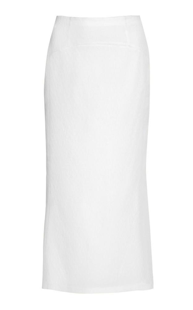 Olivier Theyskens Tardo High-Waisted Silk-Blend Skirt in white