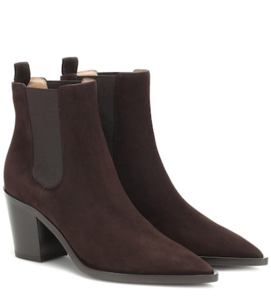 Gianvito Rossi Romney 70 suede ankle boots in brown