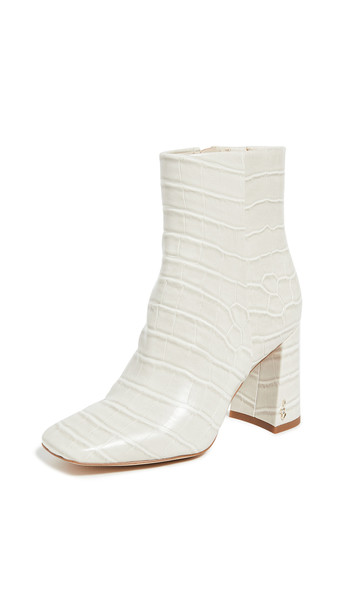 Sam Edelman Codie Booties in ivory