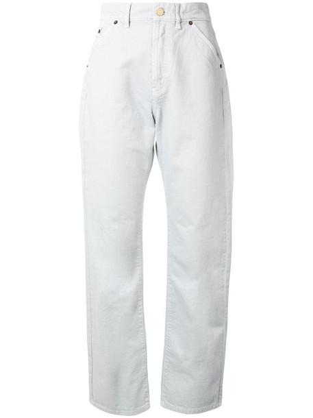 Jacquemus plain straight-leg jeans in grey