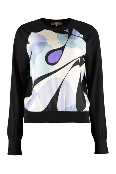 Emilio Pucci Silk And Wool Sweater in black