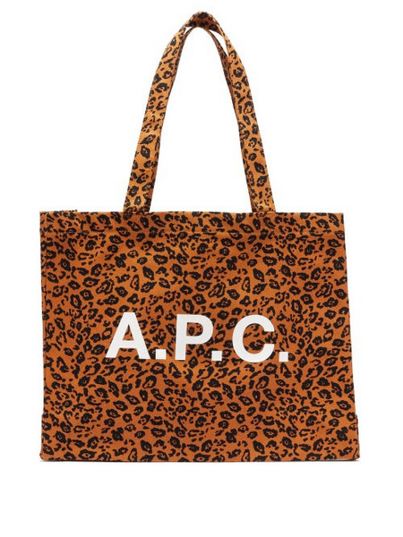 A.P.C. A.P.C. - Diane Logo And Leopard-print Canvas Tote Bag - Womens - Leopard