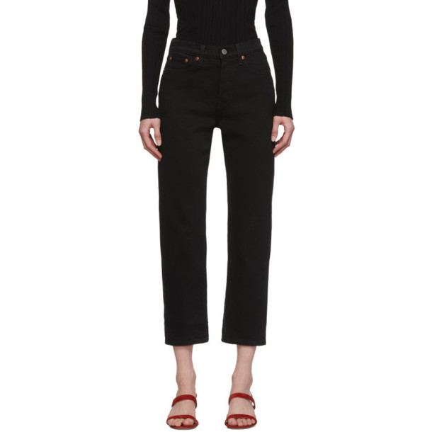 Levis Black Wedgie Straight Jeans