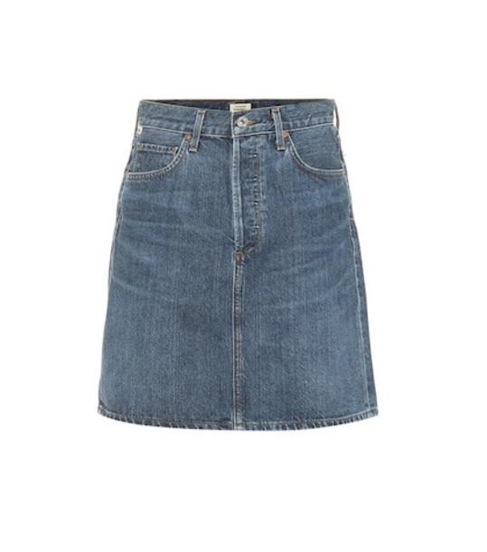 Citizens of Humanity Lorelle high-rise denim miniskirt in blue