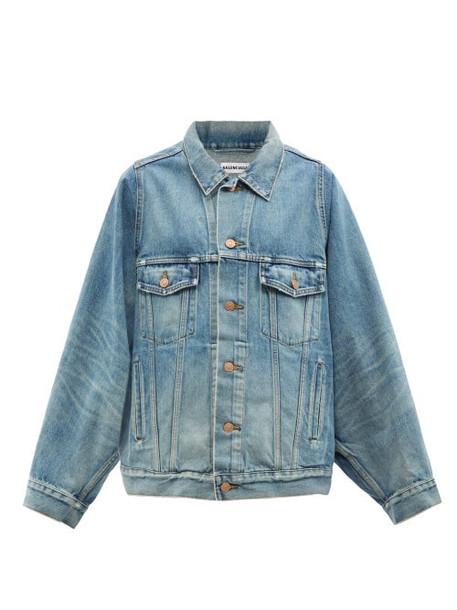 Balenciaga - Oversized Denim Jacket - Womens - Light Denim