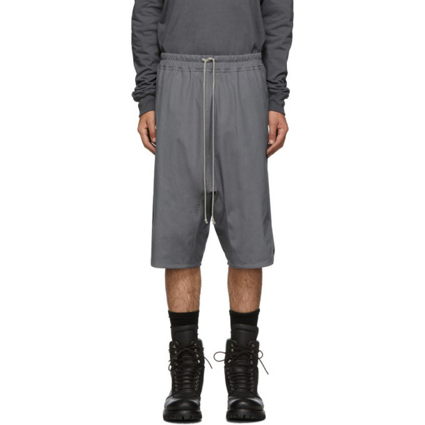 Rick Owens Grey Forever Basket Swinger Shorts