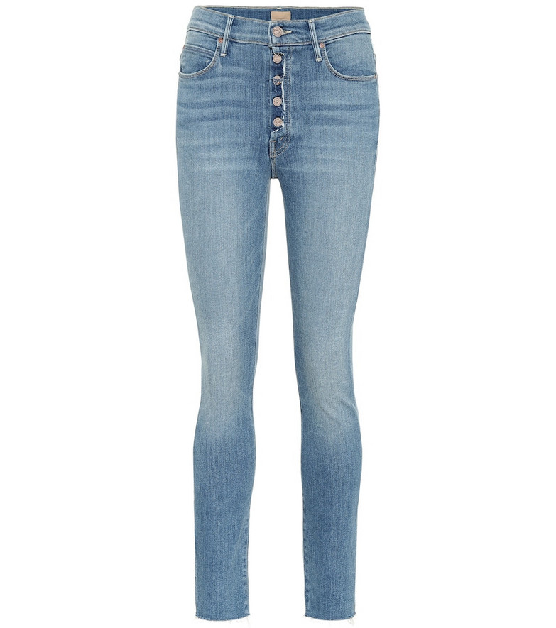 Mother The Fly Cut Stunner skinny jeans in blue