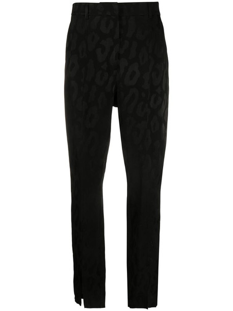 ANINE BING front slit tailored trousers in black
