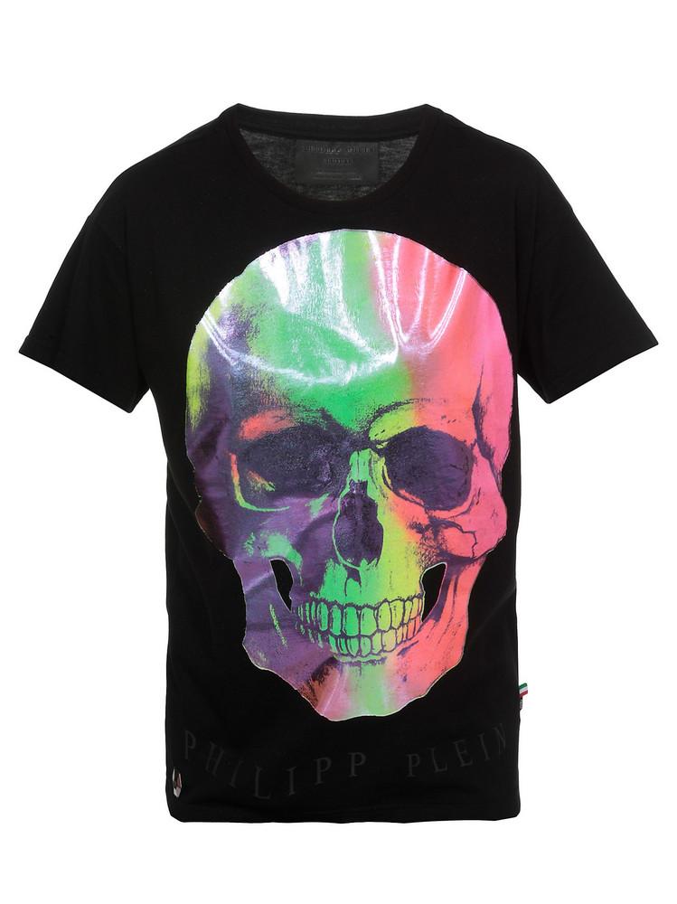 Philipp Plein Cotton T-shirt in black
