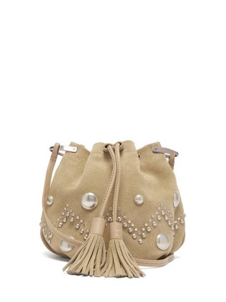 Isabel Marant - Kylio Studded Suede Bucket Bag - Womens - Beige
