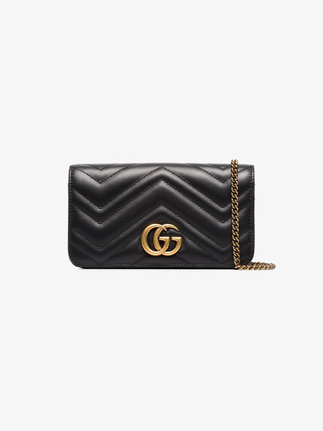 Gucci quilted leather cross-body bag in black