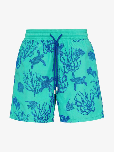 Vilebrequin Green Moorea coral print swim shorts