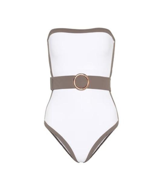 Alexandra Miro Whitney belted swimsuit in white