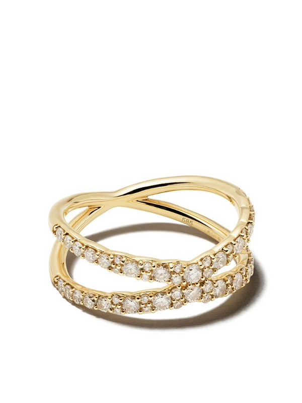 Astley Clarke 'Fusion Interstellar' diamond ring in metallic