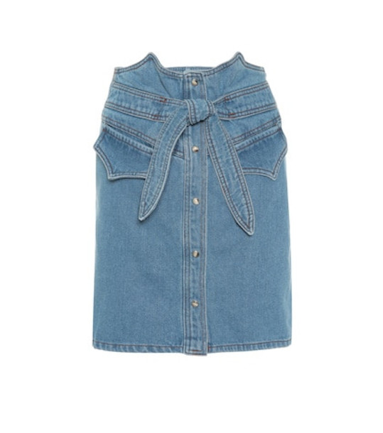 Nanushka Reese denim miniskirt in blue
